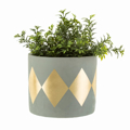 Picture of Gold patterned cement pot | Sass & Belle