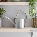 Picture of Large watering can - silver | Garden Trading