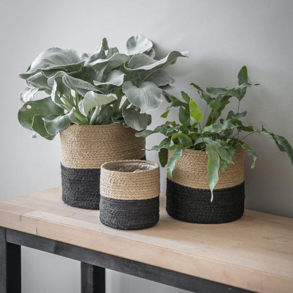 Picture of Set of three jute pots | Garden Trading