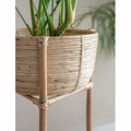 Picture of Rattan Plant Stand & Side Table | Garden Trading