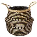 Picture of Large black tribal lined basket | Ivyline