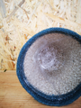 Picture of Lined jute pot - blue