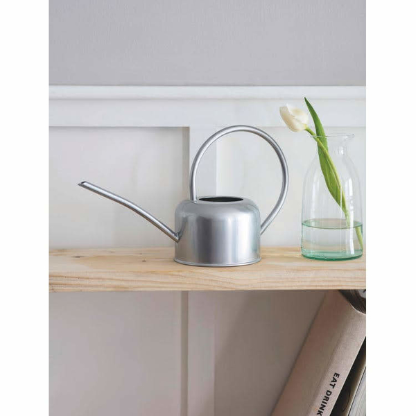 Picture of Medium watering can - silver | Garden Trading